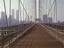 walking across Brooklyn Bridge | towards Manhattan | August 1978