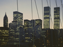 Financial District at dusk | from Brooklyn Bridge | August 1978