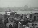 view from Galata bridge | across Bosphorus [converted b/w] | April 1980