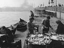 selling freshly-caught fish | near Galata bridge [conv.b/w] | April 1980